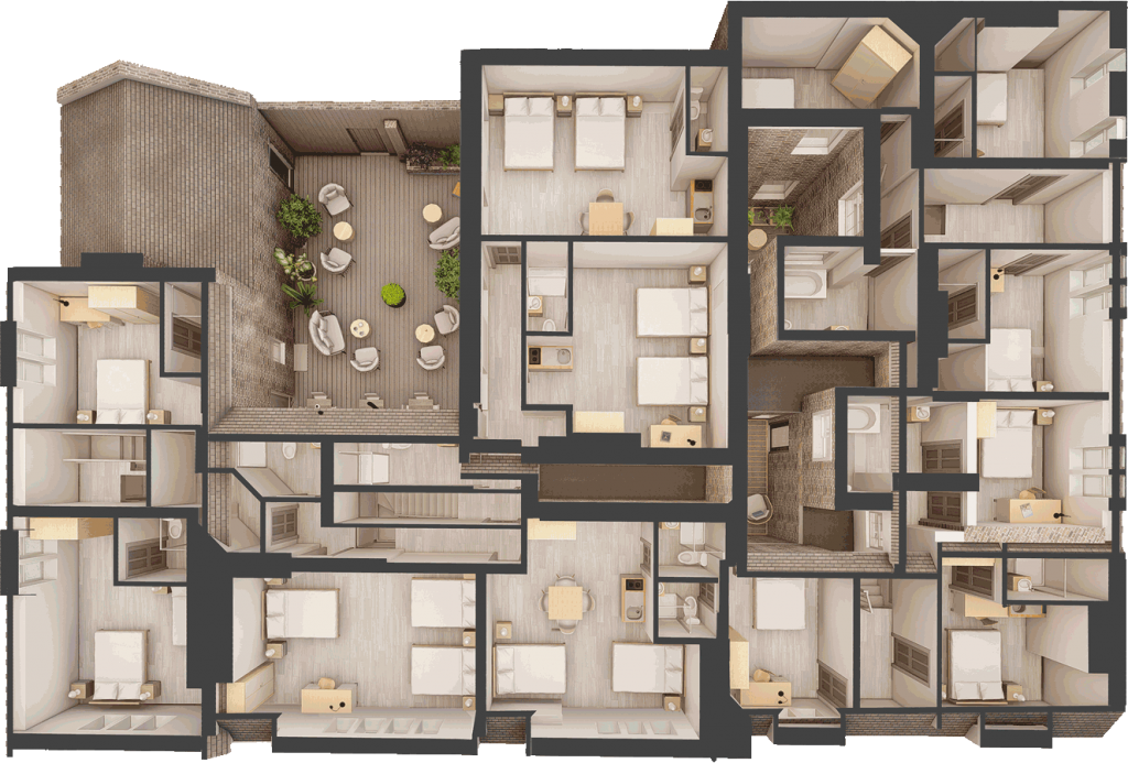 20 Bed HMO Top View