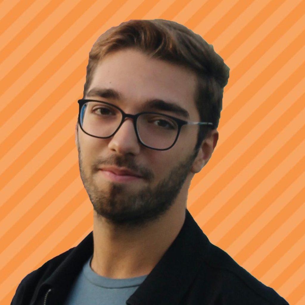 Luca Borgia Orange Background