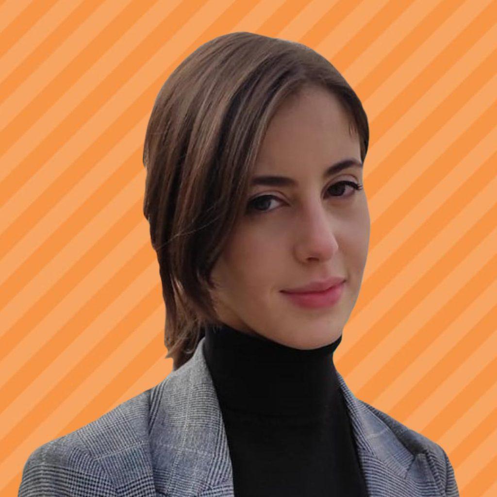 Sara Capuozzo Orange Background