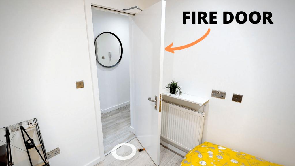 HMO Fire Door in Bedroom
