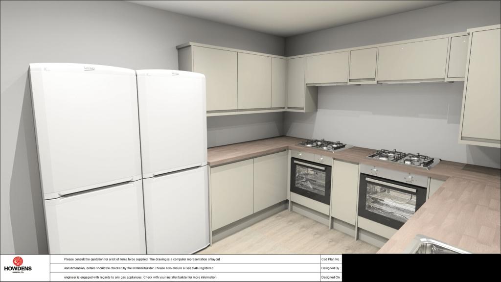 HMO Kitchen Design 1 - Howdens